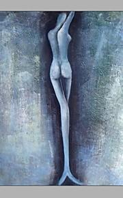 HANDMÅLAD Människor Vertikal,Medelhavet En panel Kanvas Hang målad oljemålning For Hem-dekoration