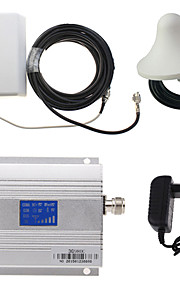 LCD display 3g980 2100MHz mobiltelefon signal booster + panel antenne kit