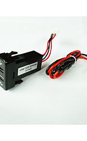 2015 warm te koop toyota dual usb auto charger.high kwaliteit (te gebruiken voor oude toyota)