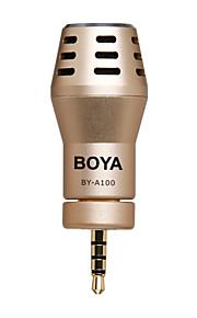 Boya by-A100 omni retningsbestemt kondensatormikrofon til iPhone ipad ipod touch android smartphones