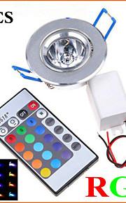 5Pcs MORSEN® 3W Super Bright Recessed  RGB  Remote Control  LED  Downlight   Spot Light LED Decoration Ceiling Lamp