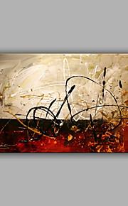 HANDMÅLAD Abstrakt Horisontell,Moderna En panel Kanvas Hang målad oljemålning For Hem-dekoration