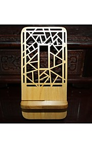 Window Grille(Irregular shape)Red Wooden Phone Holder