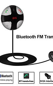 besteye® bluetooth FM-sender bilsæt micro sd-kort musikafspilning 5v2a usb interface til bil lastbil