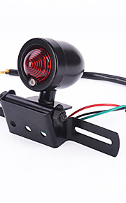 iztoss nueva lámpara luz negro retro bala motocicleta placa de cola luz de freno Univeral para la travesía chopper Harley