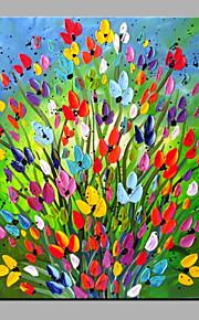 유화 현대 추상적 인 순수 손 틀 장식 꽃 유화를 그릴