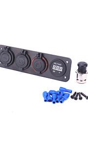 voltmeter sigarettenaansteker plug usb lader adapter aluminium paneel rv auto boot