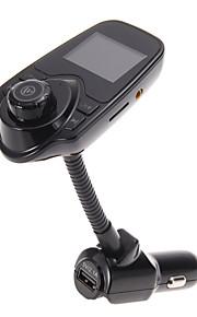 t10 super bluetooth ondersteuning carkit handsfree FM-zender draadloze MP3-speler TF-kaart, 5v 2.1a usb auto-oplader