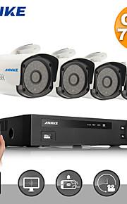 annke® 720p hd CVI 4 kanaals vedio HVR thuis surveillance bewakingscamera (wit)