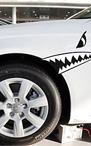 grappig haaientanden auto sticker autoraam muurstickers auto styling (1st)