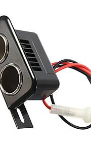 iztoss 12v auto motor tractor boot sigarettenaansteker double socket plug