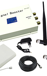 lcd display dcs 1800MHz mobiltelefon signal booster med pisk og panel antenne kit hvid