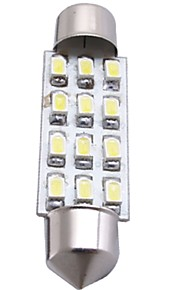 auto witte koepel 12 smd LED auto-interieur lamp licht 41mm (2 stuks)