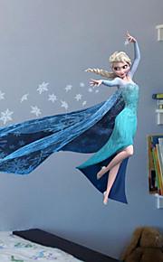 Cartoon Film Elsa Anna Olaf Hans Home Decals Children Girls Mural Art