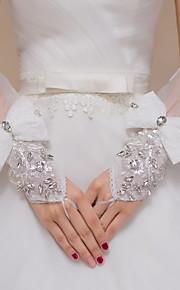 До локтя С открытыми пальцами Перчатка Кружева / Тюль Свадебные перчатки / Вечерние перчатки