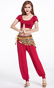 Belly Dance Outfits Women's Training Modal Draped 2 Pieces Black / Fuchsia / Army green / Orange / Purple / White