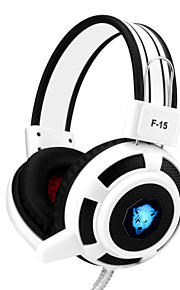 yoro f15 gaming headset stereo noise-cancelling met microfoon& volumeregeling LED verlichting voor pc / notebook / laptop