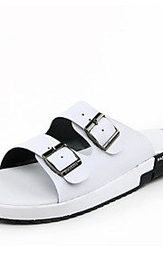Men's Shoes Casual Leather Sandals Black / White / Multi-color