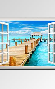 Personnage / Loisir / Paysage / Photographie / Moderne / Romantique / Voyage Toile Un Panneau Prêt à accrocher,Format Horizontal