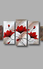 """estirada (listo para colgar) pintura al óleo pintado a mano 60 flores modernas """"x40"""" arte de la pared de la lona magnolia rojos"""