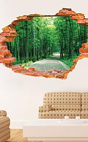 9 Styles 8001 Removable 3D Broken Wall Scenery Wall Sticker Home Decor Vinyl Decals Mural Art Adesivo De Paredes