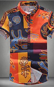 Camicia Uomo Casual Con stampe Manica corta Cotone