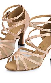 Sapatos de Dança(Amarelo / Rosa) -Feminino-Personalizável-Latina / Jazz / Salsa / Samba / Sapatos de Swing