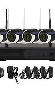 yanse® plug and play 4 kanaals draadloze nvr kit p2p 960p HD IR nachtzicht beveiliging ip camera wifi CCTV-systeem