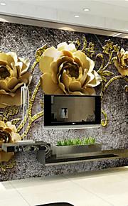 아트 데코 벽지 럭셔리 벽 취재,기타 A Large Mural Wallpaper Peony Flower