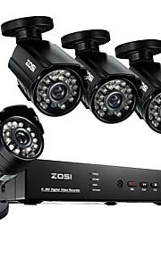 Zosi @ 8-kanaals 960H hdmi dvr 4 stuks 800tvl outdoor cctv binnenlandse veiligheid camera systeem
