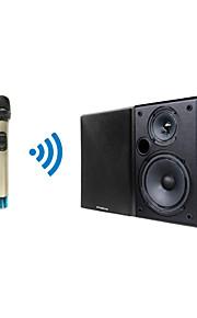 professional tp-draadloze handheld microfoon en zwart luidsprekersysteem voor vergaderruimte kerk klassikaal onderwijs