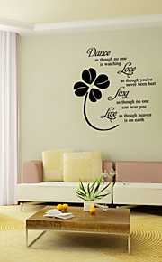 Dance As Though No One Is Watching Love Quote Wall Decals Removable Pvc Wall Stickers Home Decor Bedroom Wall Art