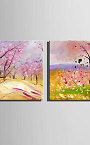 Peint à la main Paysage / A fleurs/BotaniqueStyle européen Un Panneau Toile Peinture à l'huile Hang-peint For Décoration d'intérieur