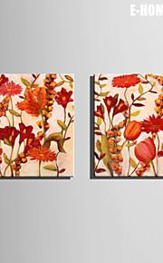 Botanisch Canvas Afdrukken Twee panelen Klaar te hangen,Vierkant