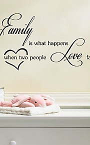 Family Is What Happens ..People Love Decal Wall Vinyl Stickers,Wedding Decoration Wall Art Decal