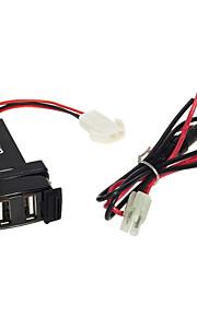 dual port USB plug neemt de leiding voor mobiele DC 12V auto mitsubishi 2.1a