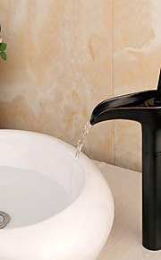 Mittellage Einhand Ein Loch in Bronze mit Ölschliff Waschbecken Wasserhahn