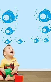 Cartoon Cute Nursery Daycare Baby Room Home Decoration Vinyl Wall Art Poster Wall Stickers Blue Sea Fish Doug