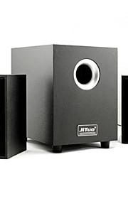 """computer hout multimedia speakers gebundeld met 3 """"echte subwoofer en USB-lichtnetadapter jt2987"""