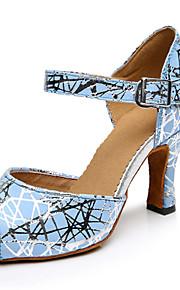 Sapatos de Dança(Azul) -Feminino-Personalizável-Latina