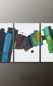 Hånd-malede AbstraktModerne Tre Paneler Canvas Hang-Painted Oliemaleri For Hjem Dekoration