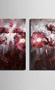 미니 사이즈 전자 홈 유화 현대 붉은 꽃은 순수 손 틀 장식 그림을 그립니다