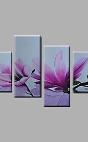 """strukket (klar til å henge) håndmalte oljemaleri 64 """"x44"""" lerret veggen kunst moderne blomster lilla magnolia"""
