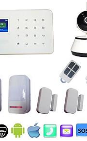 sistema di allarme senza fili di GSM&IP di wifi registrare video 720p carta di tf alarme con porta Sensore PIR scassinatore di