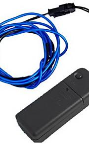 fleksibel blå neon el lys wire bil party 7.5ft