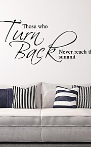 Those Who Turn Back Never Reach The Summit Diy Wall Stickers Removable Pegatinas De Pared Home Decor Decoration