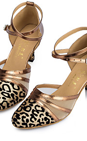 Sapatos de Dança(Preto / Vermelho / Prateado / Cinza / Dourado) -Feminino-Personalizável-Latina / Jazz / Moderna / Salsa / Samba /