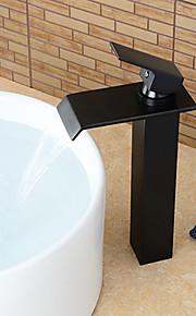 Conjunto Central Single Handle Uma Abertura in Bronze Oleado Torneira pia do banheiro