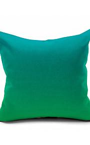 Green Mint Gradient Color Cotton/Linen Pillow Cover , Nature Modern/Contemporary  Pillow Linen Cushion
