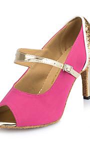Sapatos de Dança(Azul / Rosa) -Feminino-Personalizável-Latina / Jazz / Salsa / Samba / Sapatos de Swing